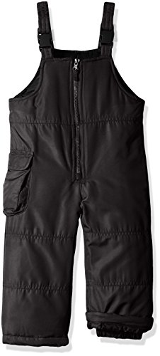 London Fog Big Girls' Classic Bib Pant With Zipper, New Black, 7/8