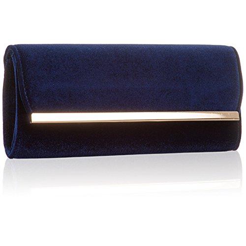 Xardi London - Cartera de mano para mujer M azul marino