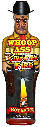 WHOOP ASS Premium Chipotle Fire Hot Sauce - 5 oz - Try if you dare! - Perfect Gourmet Gift for the Hot Sauce Fan ()