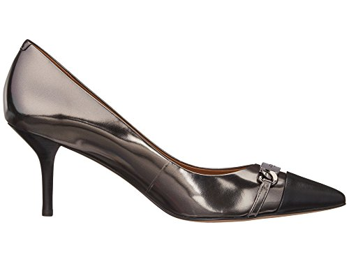 Coach Womens Bowery Pointed Toe Classic Pumps, Gunmetal Black, 8.5 (Classic Metallic Pumps)