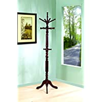 Coaster Traditional Coat Rack with Spinning Top, Cappuccino
