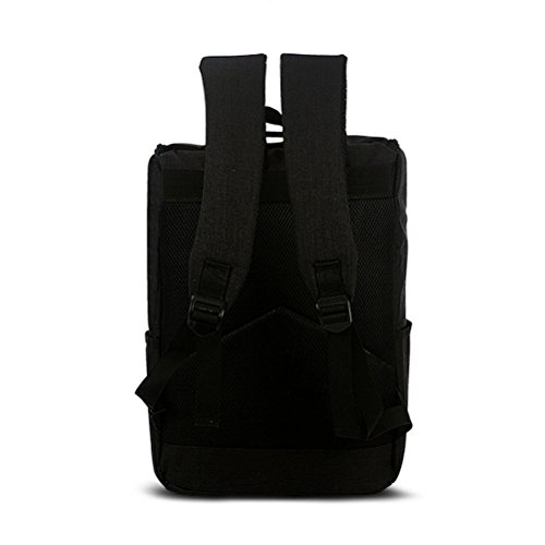ledmomo portátil mochila Satchel Bolsa de hombro gran capacidad mochila de viaje Escuela Mochila gris gris negro