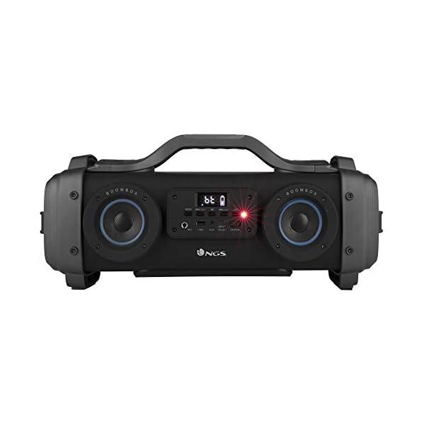 NGS Street Breaker - Bombe Portable de 200 W avec Technologie True Wireless et Bluetooth (USB/MicroSD/AUX-in). Couleur : Noir. 2
