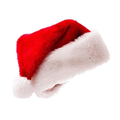 Zhuhaimei,Il Natale ha Ispessito Il Cappello di Natale del Padre della Lana Dorata per Gli Adulti e Il Ch(Color:Multi)