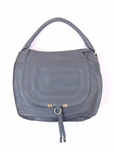 BESSO Grey Leather Luxury Italian Handbag Tote Bag Purse B14