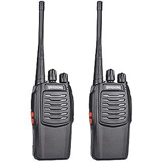 Sale QIANGHONG BF-C1 Portable Rechargeable Long Range Two Way Radios 2 Pack UHF 400-470Mhz Walkie Talkies
