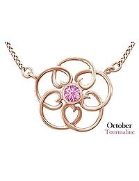 Filigree Pendant Necklace In 14k Rose Gold Over Sterling Silver