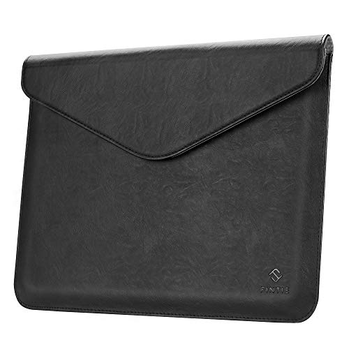 (Fintie Sleeve Case with Apple Pencil Holder for iPad Pro 12.9 2018 - Slim Fit Vegan Leather Protective Cover Carrying Case Bag Pouch for iPad Pro 12.9 Inch (3rd Generation 2018), Black )