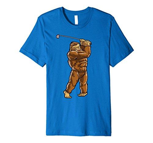 Bigfoot Sasquatch Golf T Shirt Golfer Balls Golfing Sports from Lique Bigfoot