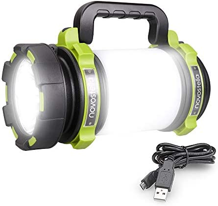 EdisonBright 2 Pack Nebo Poppy 6555 Black Green Combination LED 300 Lumen Lantern and 120 Lumen Spot Light w Battery case