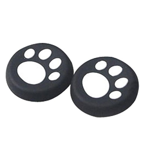Clearance ! ღ Ninasill ღ Exclusive 1 Pairs Cat's Paw Silicone Gel Thumb Grips Caps For Nintendo Switch Controller (White)