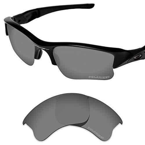 Tintart Performance Lenses Compatible with Oakley Flak Jacket XLJ Polycarbonate Polarized Etched-Sport Black