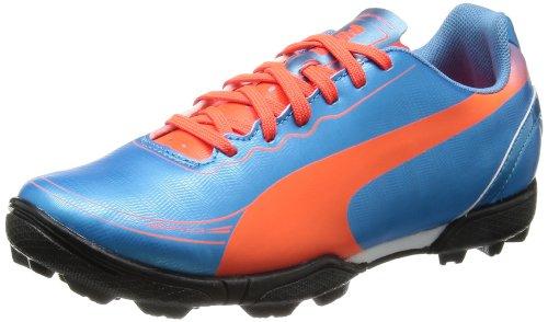 Puma evoSPEED 5.2 TT Jr 102888 Unisex-Kinder Fußballschuhe, Blau (sharks blue-fluro peach-fluro yellow 04), EU 39 (UK 6) (US 7)