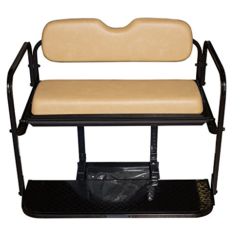 Golf Cart Rear Seat EZ-GO TXT Tan Cushions by Performance Plus Carts (Image #1)