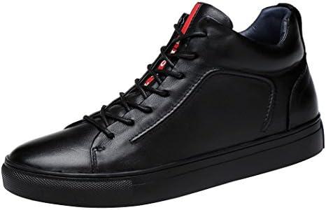 黒 スニーカー ボア メンズ シンプル 革靴 ハイカット レザースニーカー カジュアル スケートボードシューズ 秋靴 冬物 ブーツ