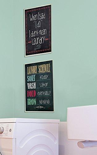 Laundry Schedule Chalkboard Bathroom Wall Plaque