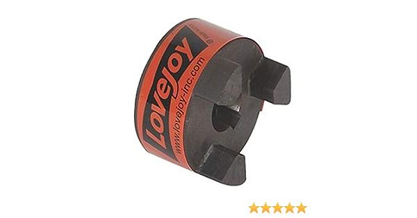 45.311 Nm Max Nominal Torque Sintered Iron 53.594 mm OD 22 mm Bore 6 mm x 2.8 mm Keyway Lovejoy 41968 Size L090 Standard Jaw Coupling Hub 20.828 mm Length Through Bore Metric