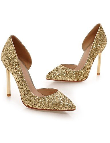 GGX/Damen Schuhe/Fall Heels Heels Outdoor/Office & Karriere/Casual Stiletto Heel Pailletten/Sparkling Glitter & 9