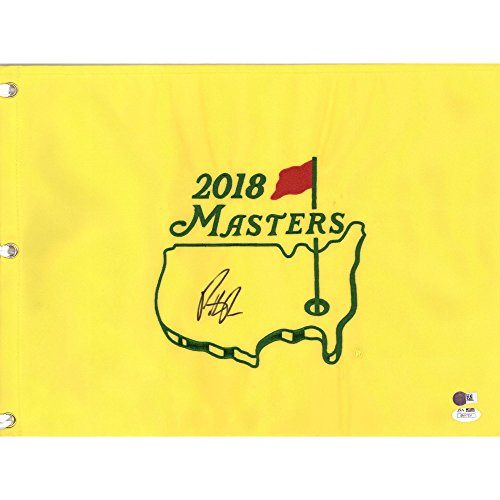 Patrick Reed Autographed 2018 Masters Pin Flag - JSA Certified - Autographed Golf Pin Flags (Masters Golf Pin Flag Autographed)