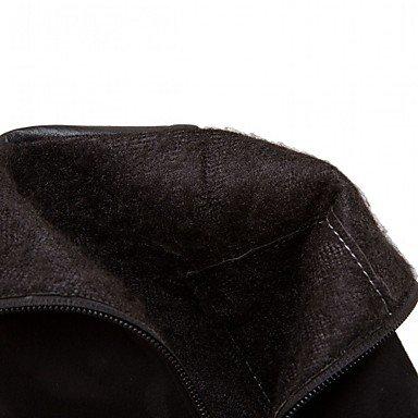 Mujer Cremallera Tacón Robusto el black Otoño Verde Tobillo Almendra Casual Heart Rojo amp;M Botas Negro hasta Innovador Semicuero Invierno Botas Confort 5xpqxSn