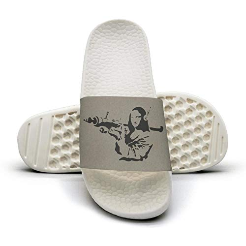 Women Banksy-Mona-Lisa-Rocket- Light Word Slippers Slippers Casual Sandals
