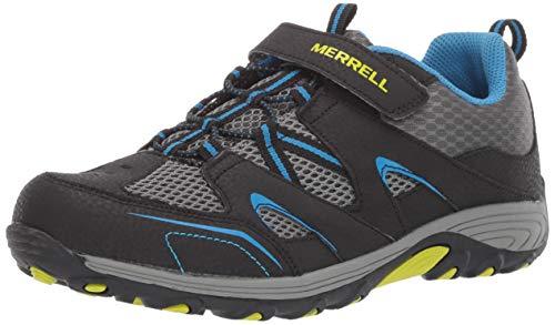 Merrell Leather Mary Janes - Merrell Boys' Trail Chaser Sneaker Black/Blue 13.5 Wide US Little Kid