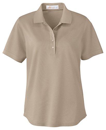 Ash City - Il Migliore 75028 Ladies' Mercerized Pique Polo Sandstone 732 M - Mercerized Jersey Polo