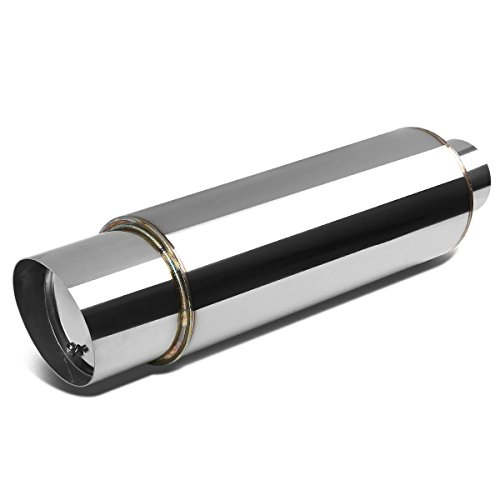 Stainless Steel Round Exhaust Muffler+Silencer - 3