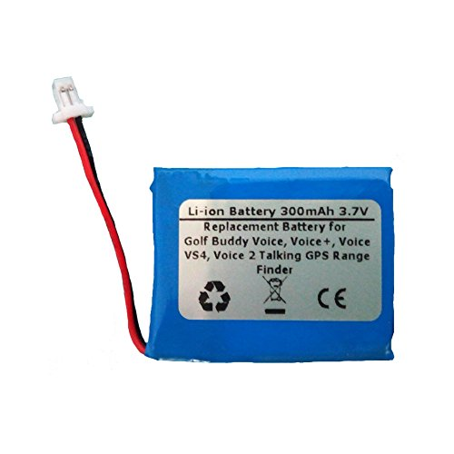 300mAh/3.7V Li-Polymer Replacement Battery For Golf Buddy Voice, Voice+, Voice VS4, Voice 2 Talking GPS Range Finder - Buddy Replacement