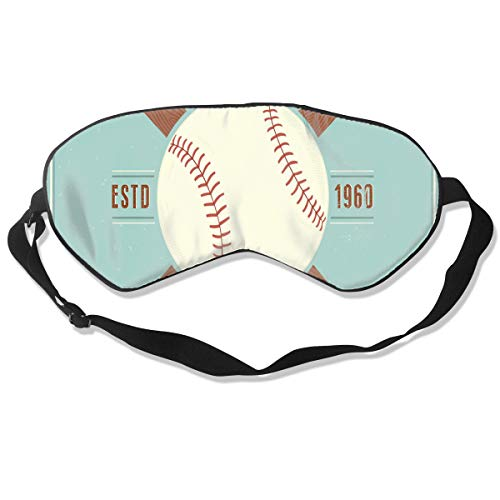 Sleep Mask Vintage Baseball Vector Emblem Eye Mask Cover With Adjustable Strap Eyeshade For Travel, Nap, Meditation, Blindfold