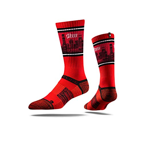 (Strideline NCAA Louisville Cardinals Premium Athletic Crew Socks, Red, One Size)