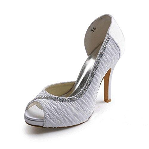 femme Escarpins 10cm Heel pour Minitoo Ivory zOq70nw7