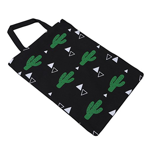 Cactus Oxford School Bestand Black Tas Briefpapier Organizer Supply Grote Potlood Draagbare Cactus Cloth Pocket Black Capaciteit Flybloom Cactus Bag Creatieve Shoulder Case wCRHqqIA