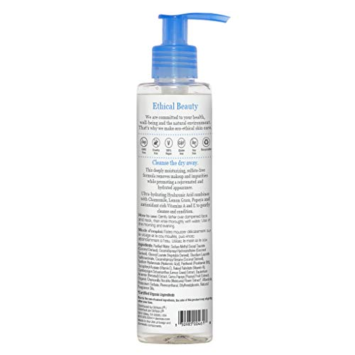 DERMA E Hydrating Gentle Cleanser with Hyaluronic Acid Clinically Proven Gentle Facial Wash for Calming Acne, Sensitive Skin, and Firming – Deeply Hydrates while washing away Dirt, Oil & Impurities