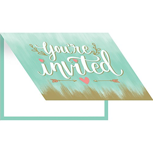 Creative Converting 324684 Mint Party Invitations, Bridal Shower