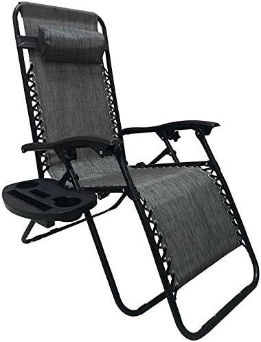 BTEXPERT 15045GR Utillity Cup Holder Zero Gravity Chair Case Lounge Patio Pool Beach Yard Garden