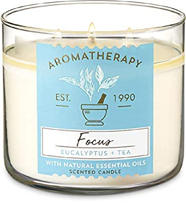 Bath and Body Works Aromatherapy Eucalyptus Tea 3-Wick Candle