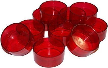 ROJO Vela Pequeña Moldes policarbonato. Para hacer velas - 100