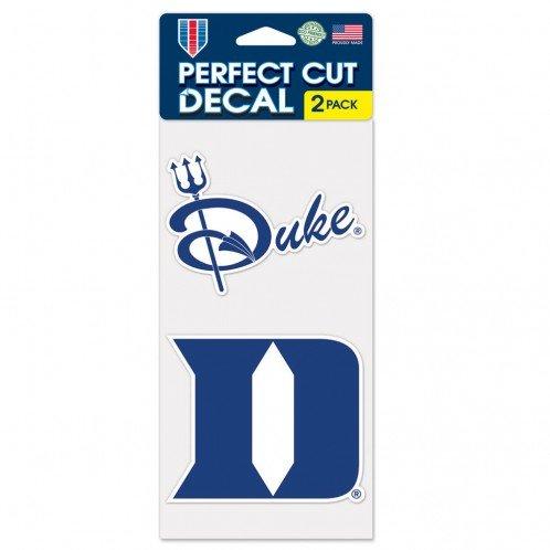 Wincraft NCAA Duke University Perfect Cut Decal (Set of 2), 4'' x 4''