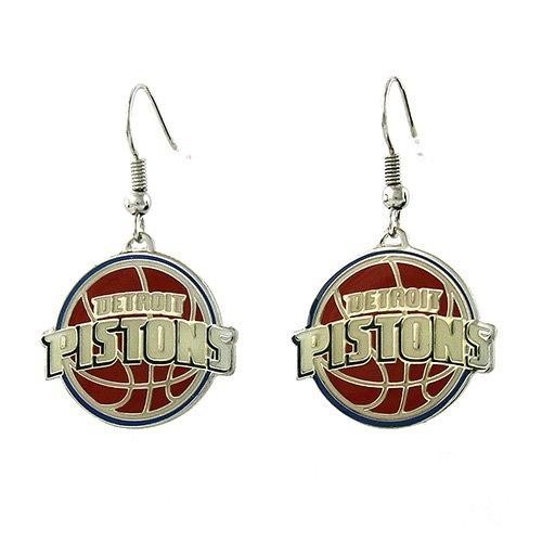 Detroit Pistons - NBA Team Logo Dangler Earrings by aminco