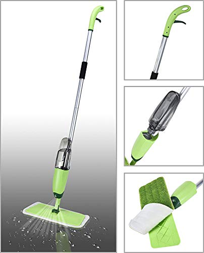 Smile Mom Aluminium Spray Mop Set with Microfiber Washable Pad, Best 360 Degree Easy Floor Cleaning...