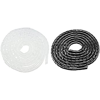 uxcell Spiral Wire Wrap Cable Wrap Cord 1//2-inch x 18ft Black PE Polyethylene Tubing for Computer Cable