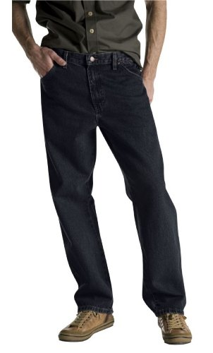 Dickies Men's Overdyed Relaxed Fit Jean, Black, 30x32