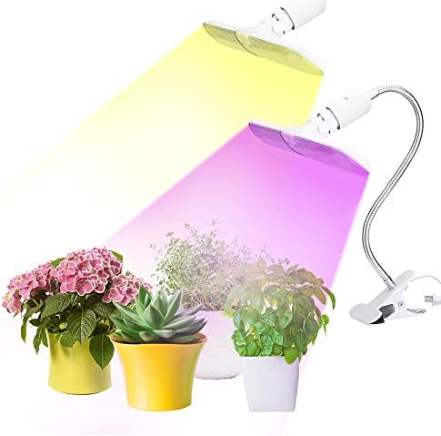 New Version Led Grow Light for Indoor Plants,75W Dual Modes Foldable Light Body with Flexible Gooseneck Clamp, Sunlight Full Spectrum for Plant Growing Seed Starting Bloom