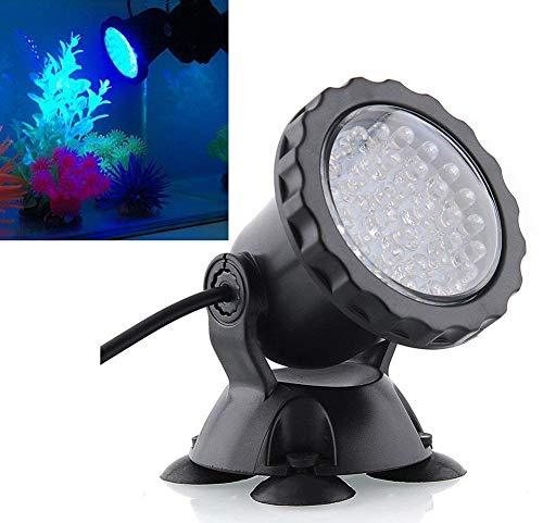 Lámpara De Acuario Luz Subacuática Foco Sumergible A Prueba De Agua IP 68 Con 36 Bombillas LED 3.5W Color Que Cambia La Luz...