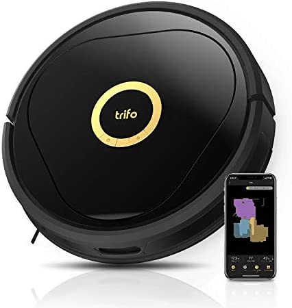 Trifo Robot Vacuum Cleaner with Reactive AI and Intelligent Mapping, No-go Zones, 3000Pa Strong Suction, Multi-Level Mapping, Robotic Vacuum Alexa-Enabled