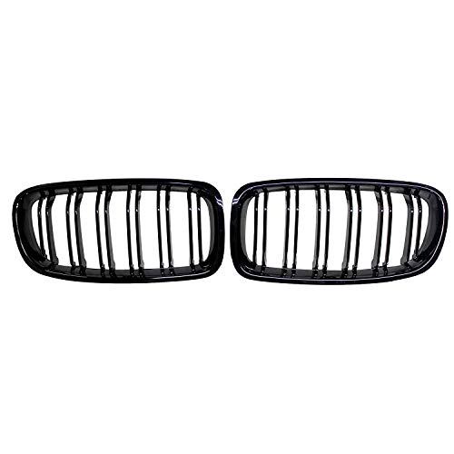 Fit 2012-2018 BMW 3 Series F30 F31 F35 Grille High Gloss BLACK Cool Bussiness Style Replacement Conversion Grill Sturdy ABS Easy To Install
