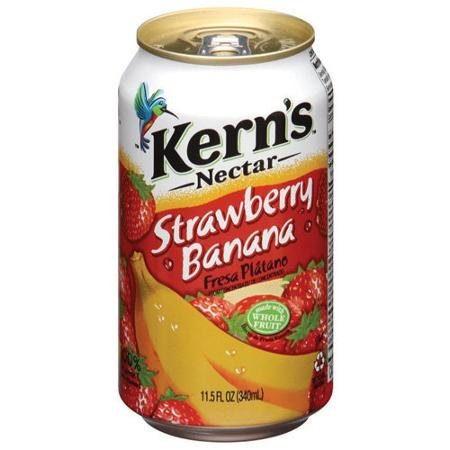 Kern's Strawberry Banana Nectar 11.5 Oz (24 Pack)