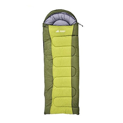 Semoo Envelope Sleeping Bags with Compression Bag - Green