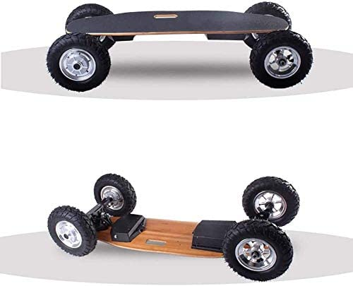 Nfudishpu Skateboard électrique Double Moteur, 800W * 2 Brushless Motor Skateboard, Scooter Intelligent électrique Tout-Terrain à télécommande sans Fil en érable